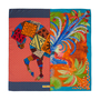 Authentic Pre Owned Hermès Phoenix A Cheval Happy Meeting Scarf 90 (PSS-566-00047) - Thumbnail 1