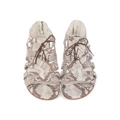 Romanesque Snakeskin Sandals