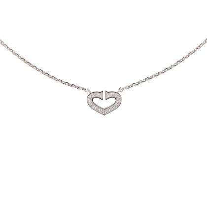 Authentic Second Hand Cartier Coeur C de Diamond Necklace (PSS-567-00004)