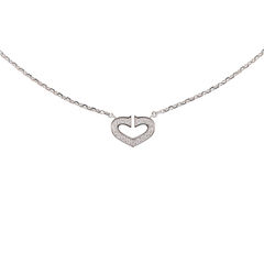Coeur C de Diamond Necklace