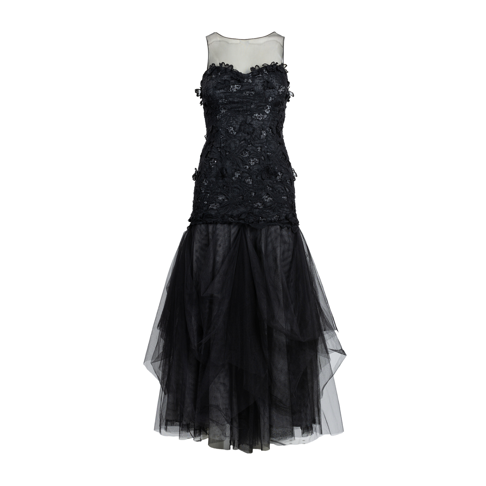 e695617238 Authentic Second Hand BCBG Max Azria Tulle and Appliqué Gown  (PSS-515-00114)