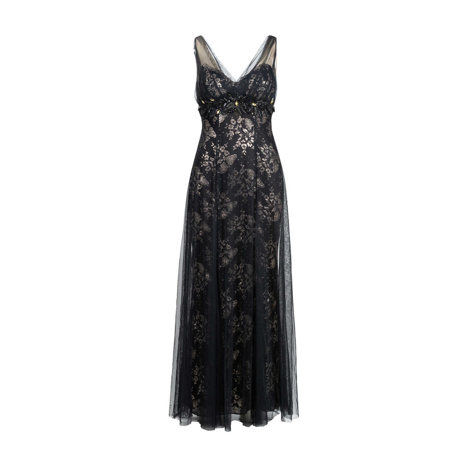 04a13ee084b Authentic Second Hand Marchesa Notte V-Neck Tulle Gown (PSS-515-00113 ...