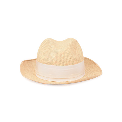 Authentic Second Hand Lanvin Straw Panama Hat (PSS-515-00087)