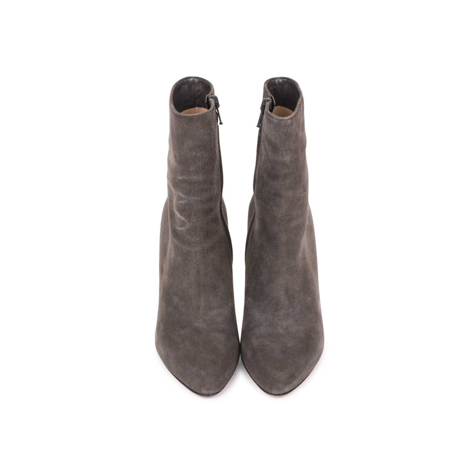61dc23cf96a Authentic Second Hand Christian Louboutin Top Suede Ankle Boots (PSS ...