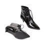 Authentic Pre Owned Saint Laurent Patent Leather Ankle Boots (PSS-515-00122) - Thumbnail 2