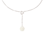 Authentic Pre Owned Chanel Diamond and Ceramic Calcedony Camellia Necklace (PSS-515-00101) - Thumbnail 0