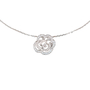 Authentic Pre Owned Chanel Diamond Camellia Pendant Necklace (PSS-515-00102) - Thumbnail 0