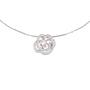 Authentic Second Hand Chanel Diamond Camellia Pendant Necklace (PSS-515-00102) - Thumbnail 0