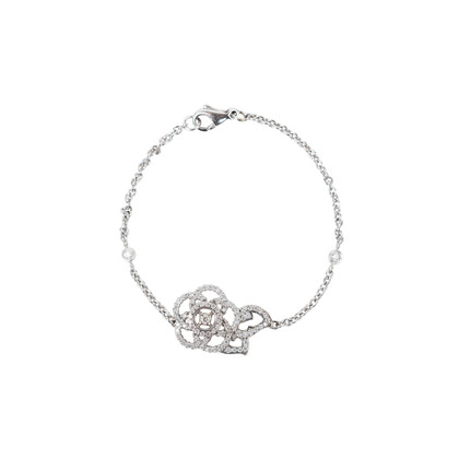 Authentic Pre Owned Chanel Diamond Camellia Bracelet (PSS-515-00103)