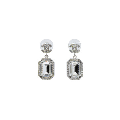 Authentic Second Hand Chanel Large Crystal Drop Earrings (PSS-515-00105)
