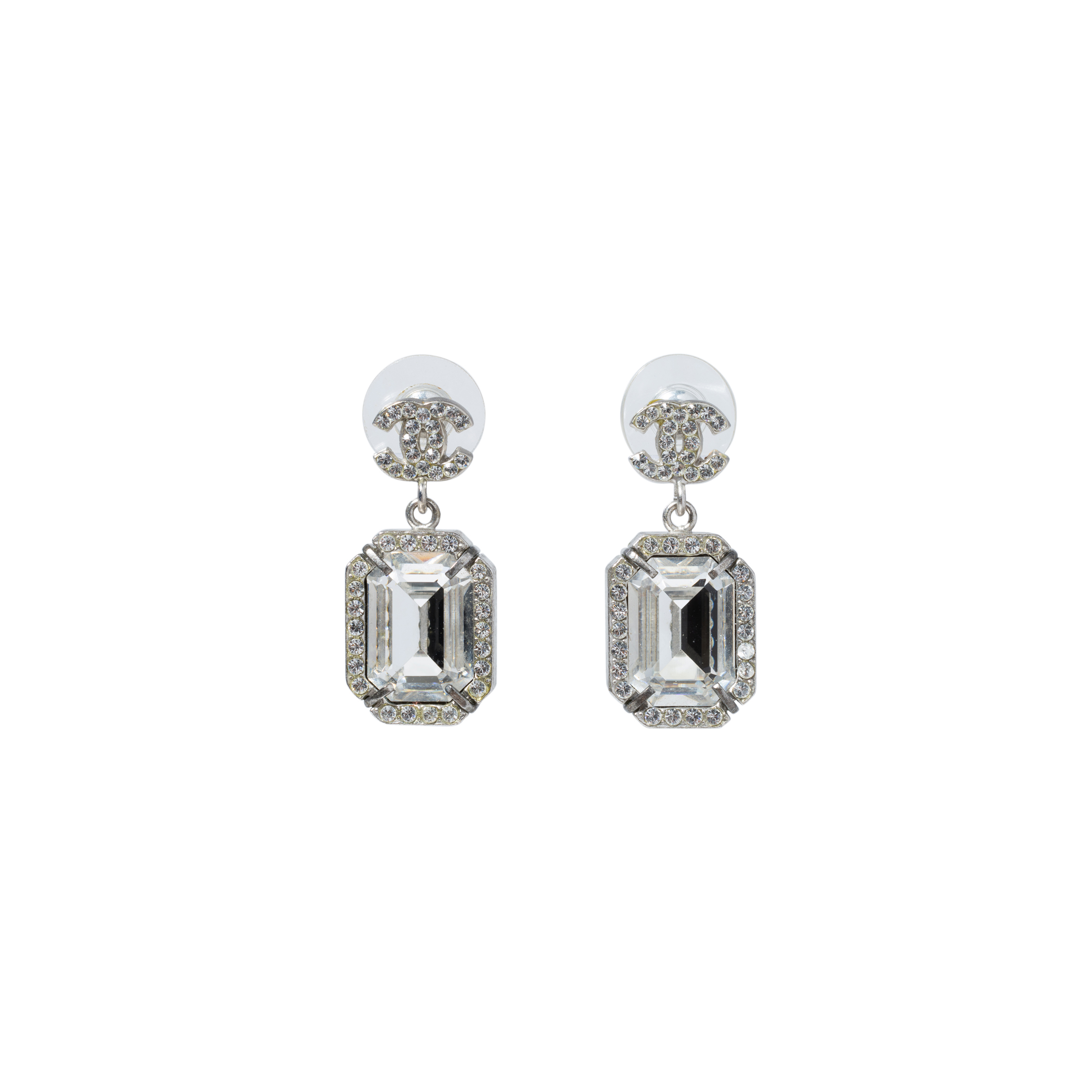 Authentic Pre Owned Chanel Large Crystal Drop Earrings Pss 515 00105 The Fifth Collection