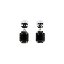 Authentic Second Hand Chanel Large Black Crystal Drop Earrings (PSS-515-00106) - Thumbnail 0