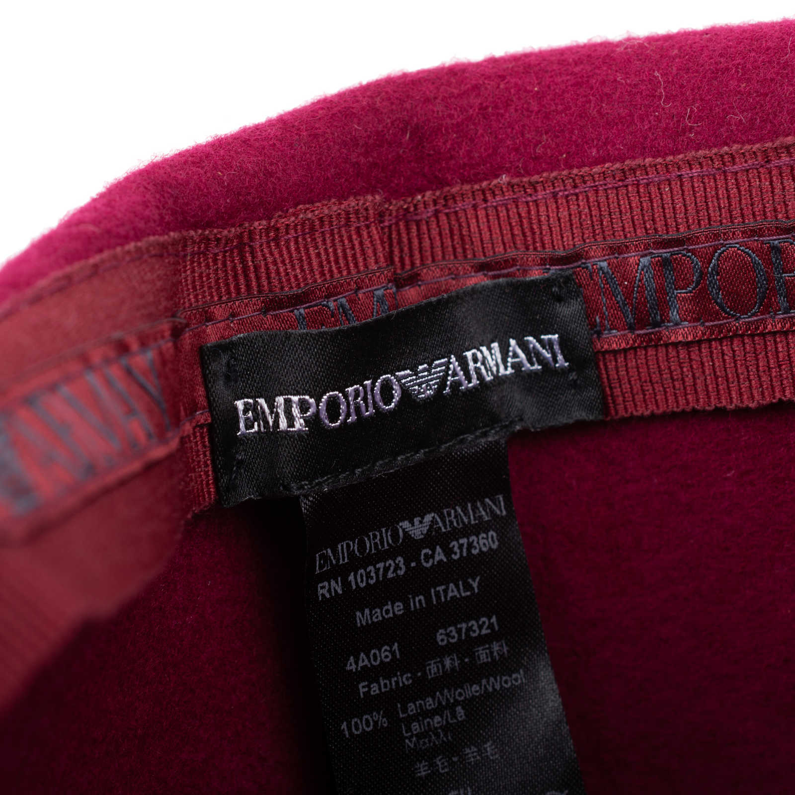 7acfa6f8b79 ... Authentic Pre Owned Emporio Armani Wool Hat (PSS-515-00088) - Thumbnail