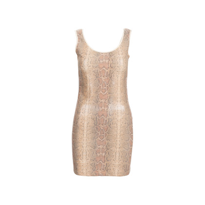 Authentic Second Hand Roccobarocco Snakeskin Print Dress (PSS-560-00004)