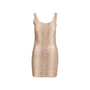 Authentic Second Hand Roccobarocco Snakeskin Print Dress (PSS-560-00004) - Thumbnail 0
