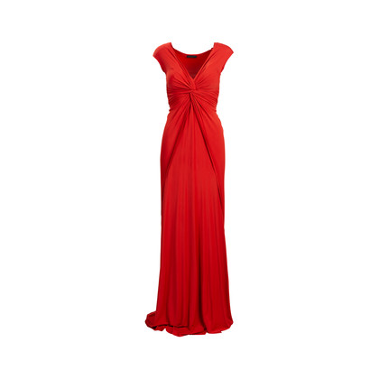 Authentic Second Hand Donna Karan Draped Jersey Gown (PSS-534-00017)