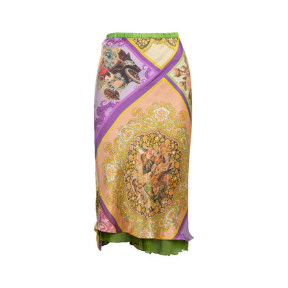 Authentic Pre Owned Etro Paisley Floral Layered Skirt (PSS-534-00019)