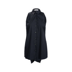 Pleated Open Back Blouse