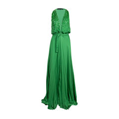 Sequinned Bodice SIlk Gown