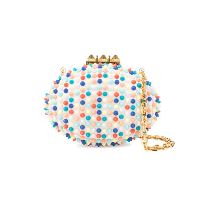 Authentic Pre Owned Christian Louboutin Spike Mina Clutch (PSS-534-00006)