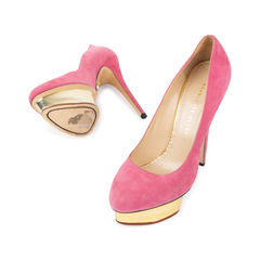 Charlotte olympia dolly suede pumps pink 2?1540370495