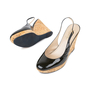 Authentic Pre Owned Yves Saint Laurent Patent Wedge Cork Pumps (PSS-534-00037) - Thumbnail 1