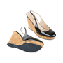 Authentic Pre Owned Yves Saint Laurent Patent Wedge Cork Pumps (PSS-534-00037) - Thumbnail 2