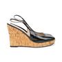 Authentic Pre Owned Yves Saint Laurent Patent Wedge Cork Pumps (PSS-534-00037) - Thumbnail 4