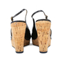 Authentic Pre Owned Yves Saint Laurent Patent Wedge Cork Pumps (PSS-534-00037) - Thumbnail 5