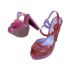 Sergio rossi wooden block sandals 2?1540370668