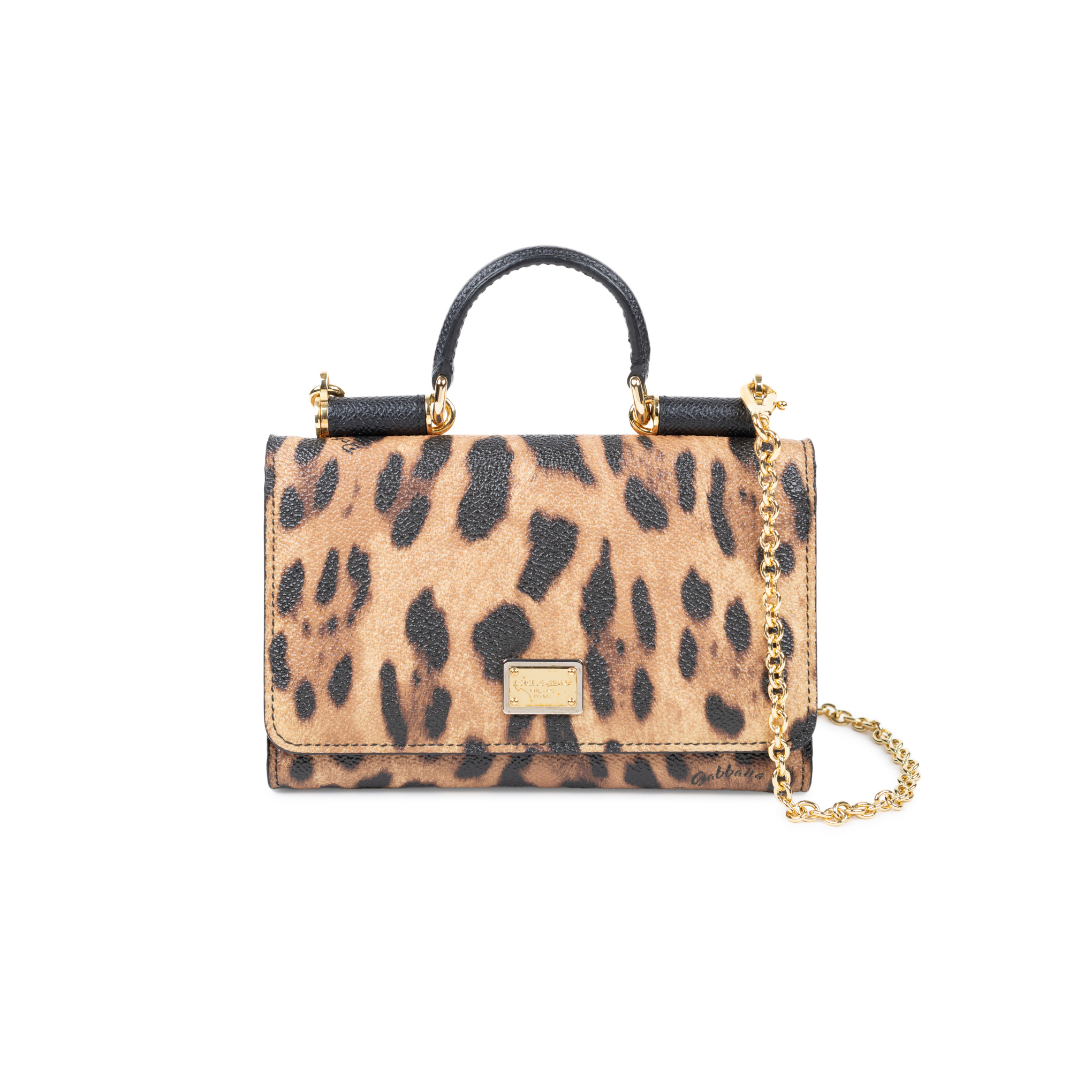 2028dc4c02b9 Authentic Second Hand Dolce   Gabbana Miss Sicily Leopard Crossbody Wallet  (PSS-534-00004)