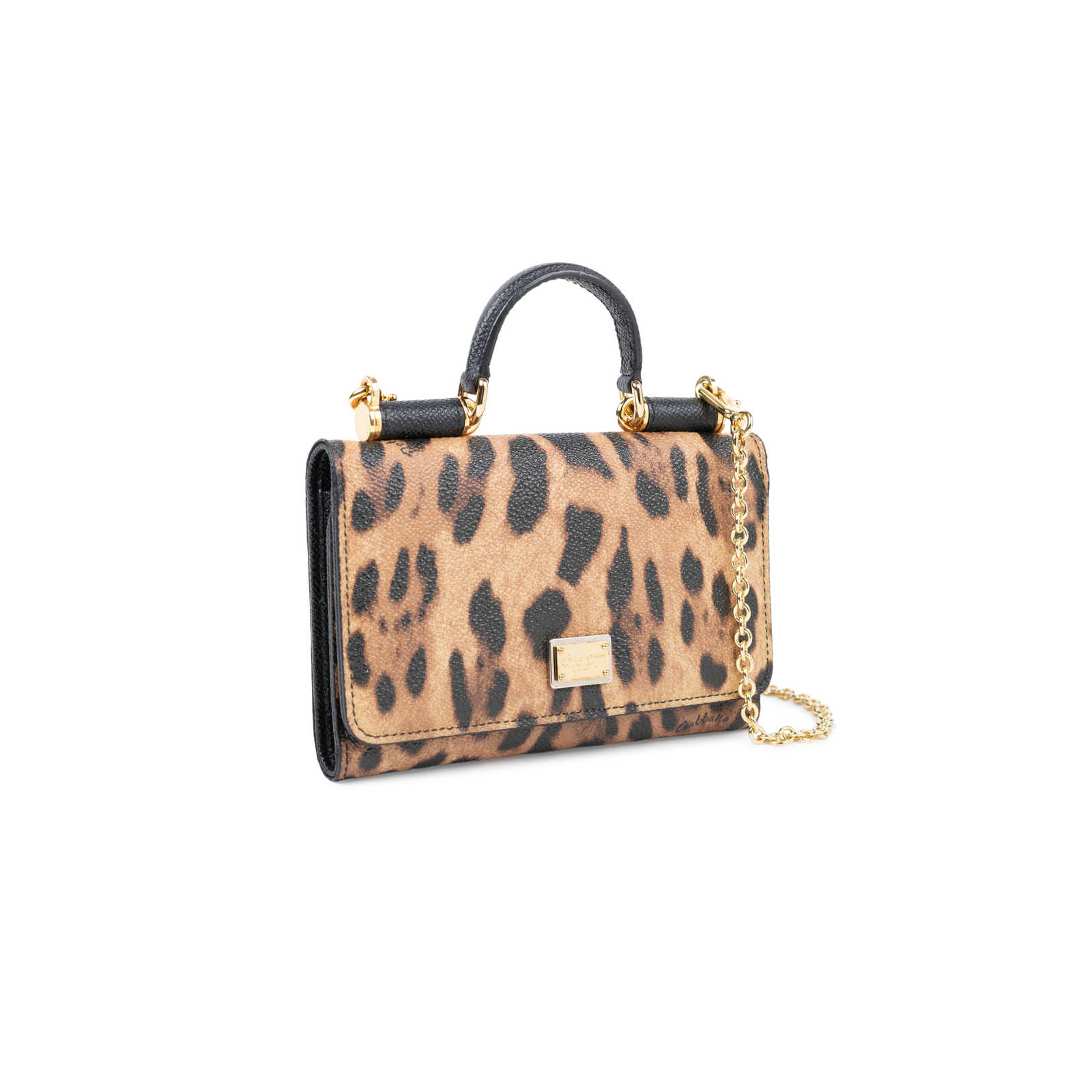 aa9f147e01eb ... Authentic Second Hand Dolce   Gabbana Miss Sicily Leopard Crossbody  Wallet (PSS-534- ...