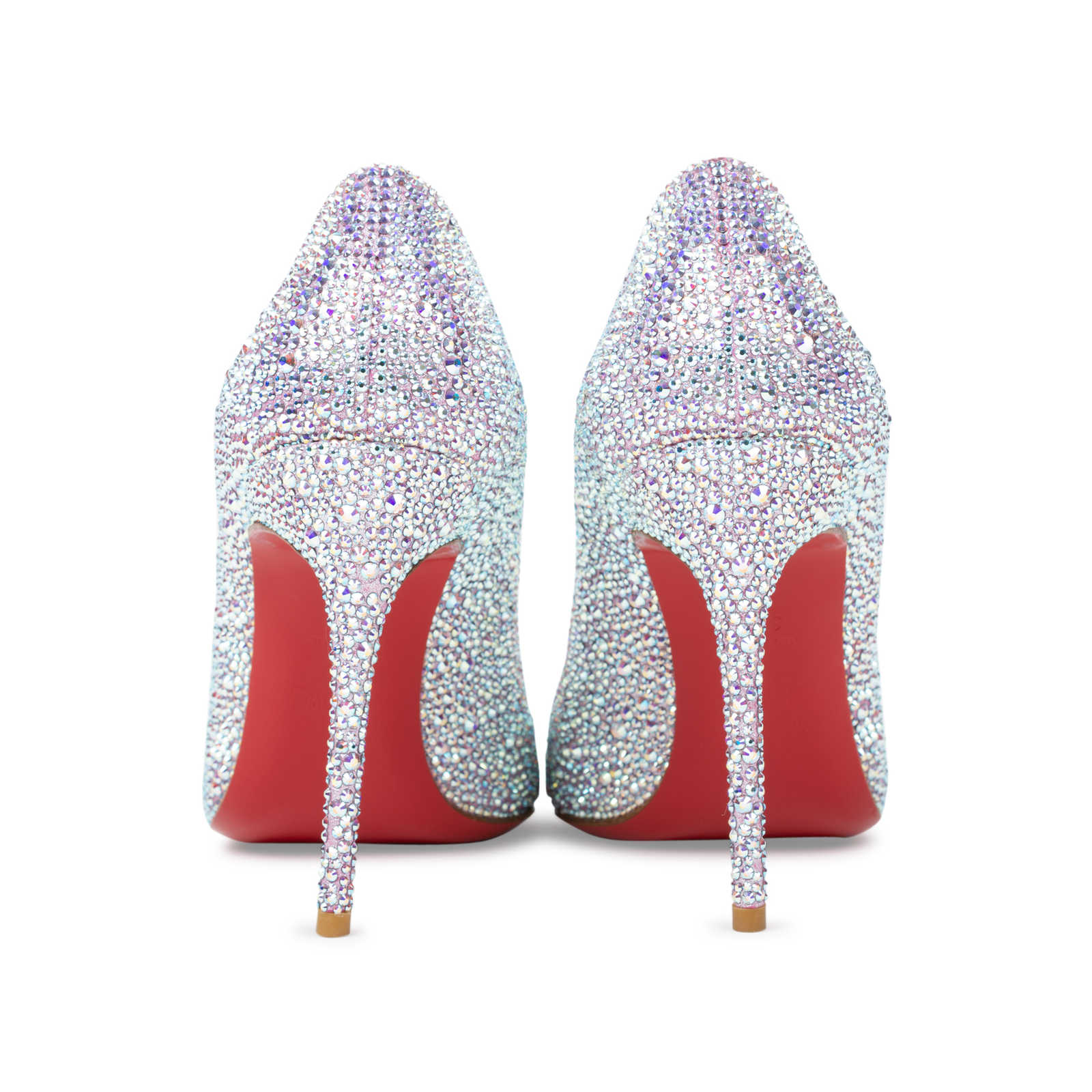 475808005304 ... Authentic Second Hand Christian Louboutin Sexy Strass Crystal Peep Toe  Pumps (PSS-534-
