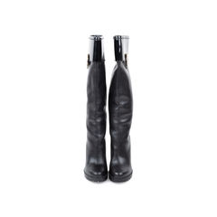 Patent Top Knee-Length Boots