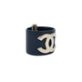 Authentic Pre Owned Chanel 'CC' Leather Cuff Bracelet (PSS-559-00004) - Thumbnail 1