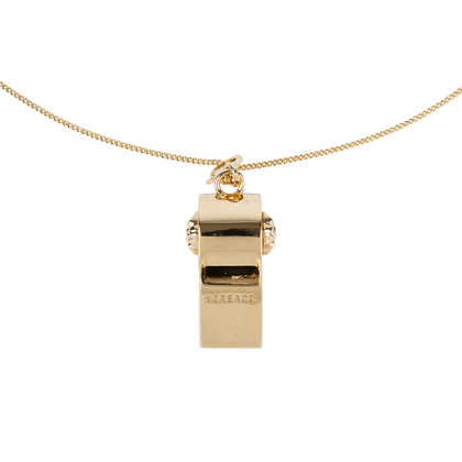 Authentic Second Hand Versace Medusa Whistle Chain Necklace (PSS-559-00007)