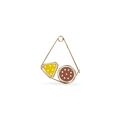 Authentic Pre Owned Loewe Double Meccano Pin Broncead (PSS-559-00009)