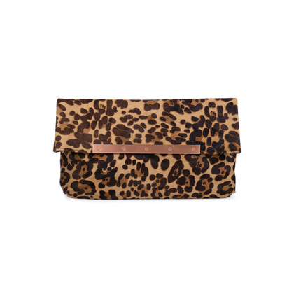 Authentic Pre Owned Joie Helena Hair Calf Clutch (PSS-559-00014)