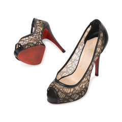 Christian louboutin very lace peep toe pumps 2?1540799601