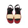 Authentic Pre Owned Céline Straw Flatform Sandals (PSS-559-00019) - Thumbnail 0
