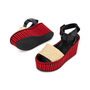 Authentic Pre Owned Céline Straw Flatform Sandals (PSS-559-00019) - Thumbnail 1