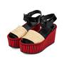 Authentic Pre Owned Céline Straw Flatform Sandals (PSS-559-00019) - Thumbnail 3