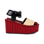 Authentic Pre Owned Céline Straw Flatform Sandals (PSS-559-00019) - Thumbnail 4