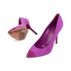 Yves saint laurent purple suede pumps 2?1540800117