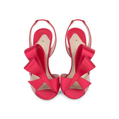 Satin Bow Slingback Sandals