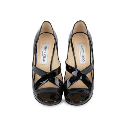 Authentic Second Hand Jimmy Choo Patent Cut Out Pumps (PSS-565-00013)