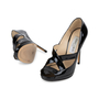 Authentic Second Hand Jimmy Choo Patent Cut Out Pumps (PSS-565-00013) - Thumbnail 1