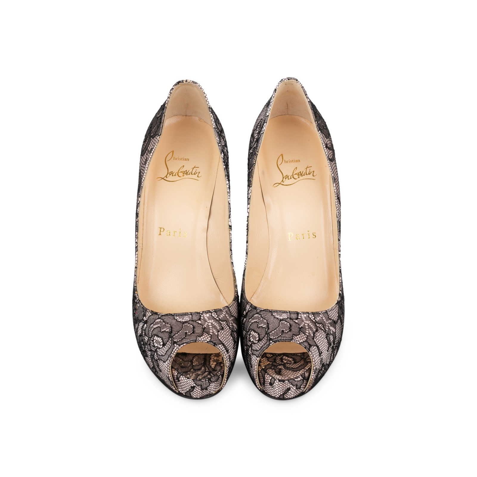 fa3bdb293e9 Authentic Second Hand Christian Louboutin Very Prive Lace Pumps (PSS ...