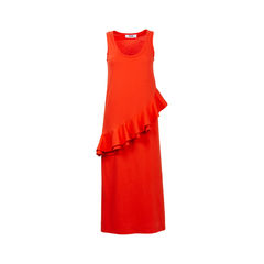 Orange Asymmetrical Maxi Dress