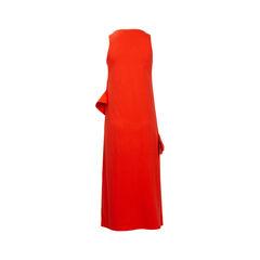 Msgm orange asymmetrical maxi dress 2?1540801169